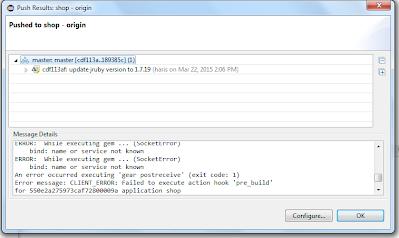 OpenShift JRuby Quickstart Error
