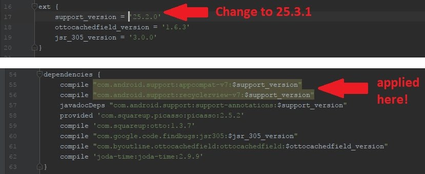 Chang support library version number