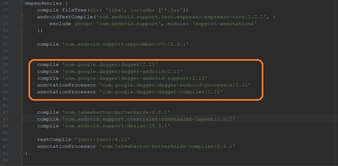 Add dagger dependencies