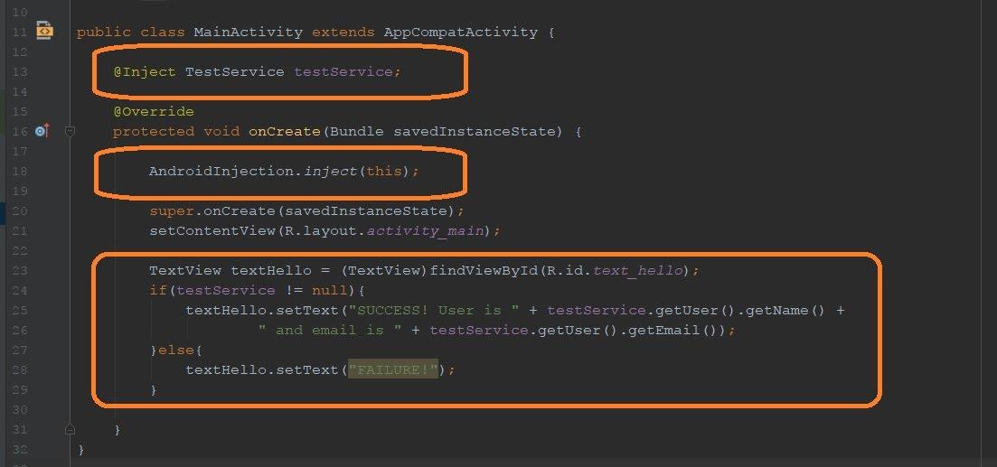 Main activity code